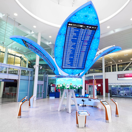 airport information zone sculpture