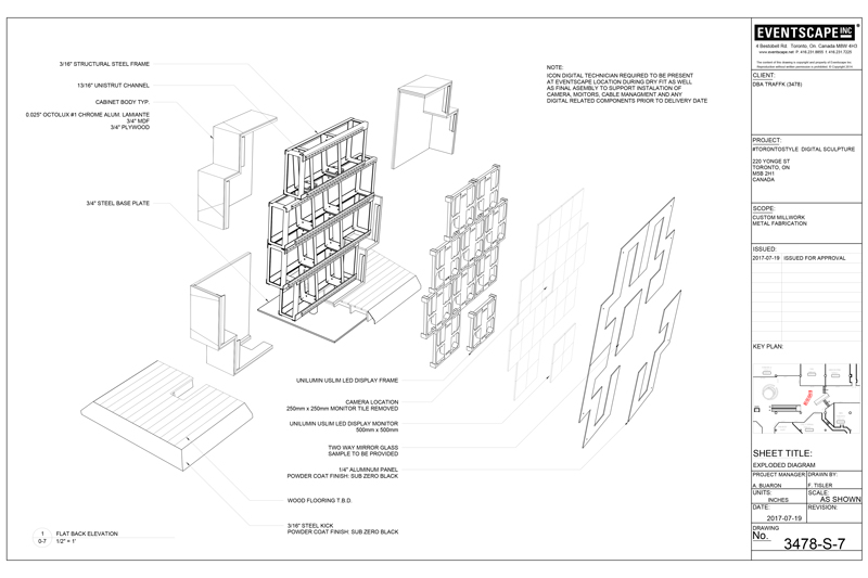 exploded design drawing