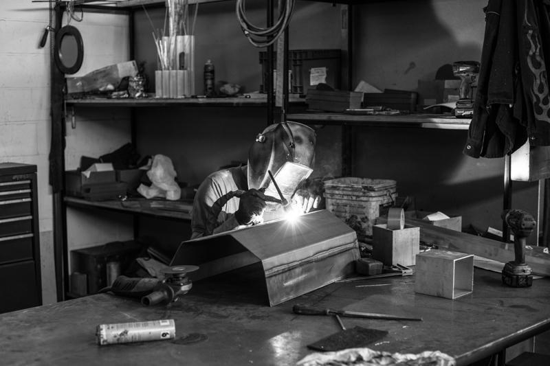 metal being welded