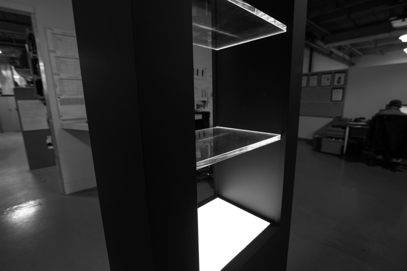 illuminated retail display tower