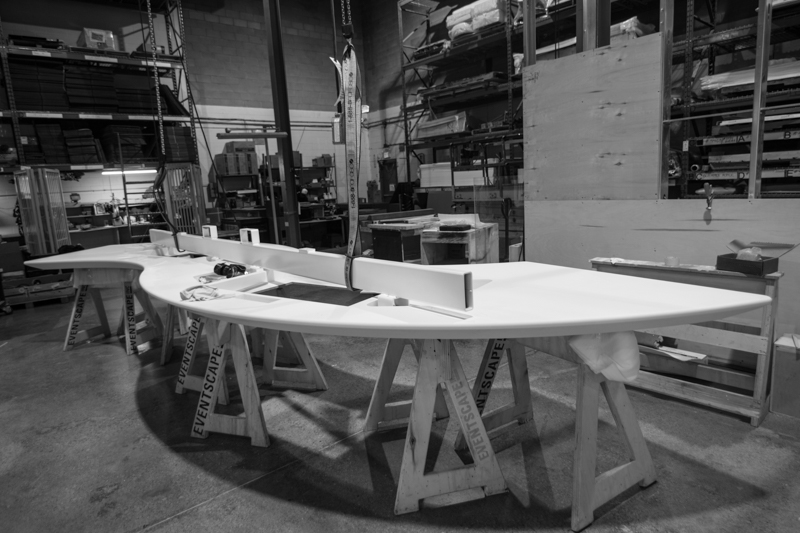 solid surface desk top fabrication