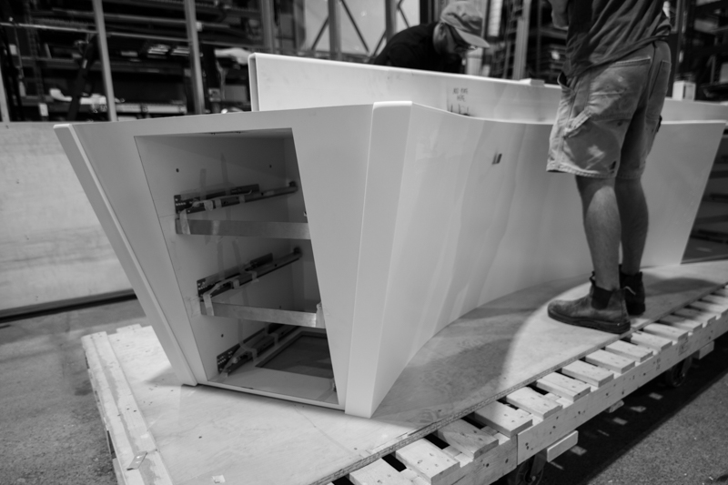solid surface desk fabrication