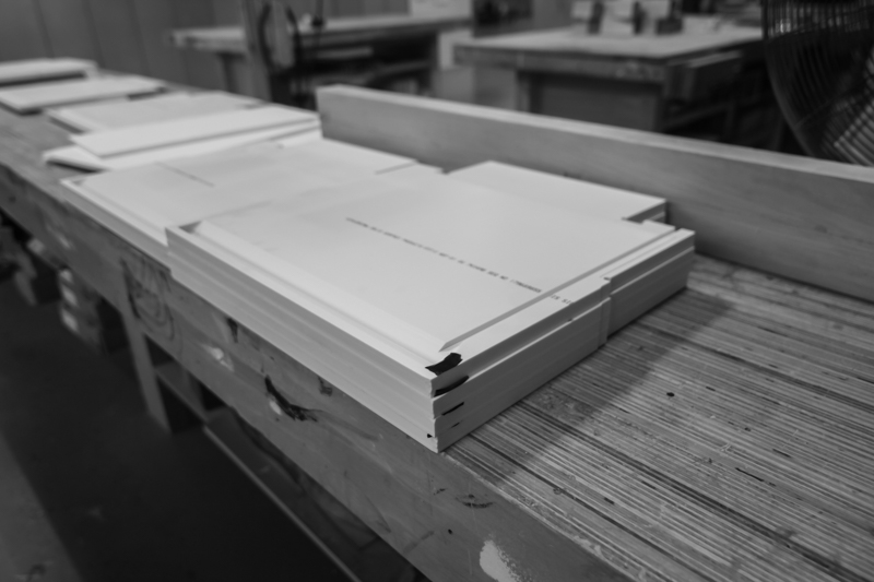 solid surface shelf fabrication
