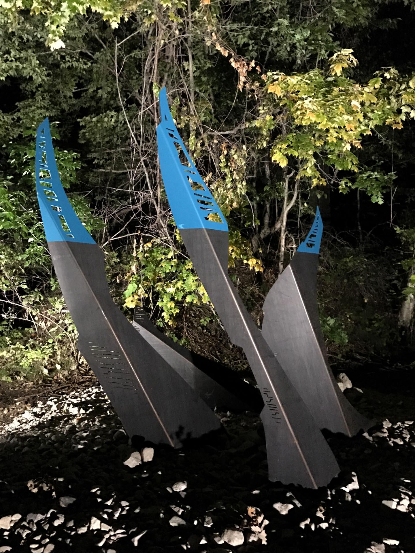 laser cut metal sculpture